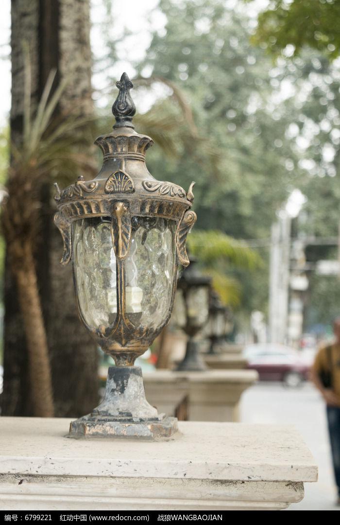 复古欧式路灯图片