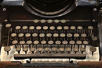 古老的英文打字机键盘