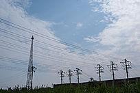 蓝天白云高压变电站