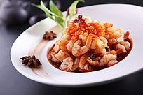 捞汁凤尾虾