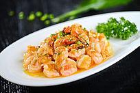 清炒蟹粉明虾仁