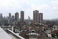 眺望东莞科学馆东北角莞城区城市风景