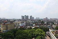 眺望东莞科学馆以北角莞城区城市风景