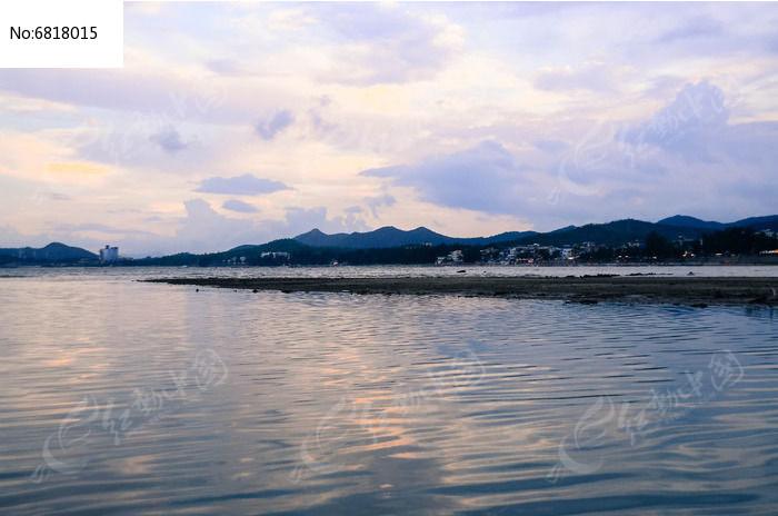 晚霞海洋图片
