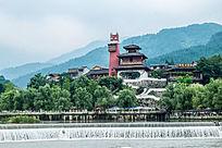 藏民民宿建筑横构图