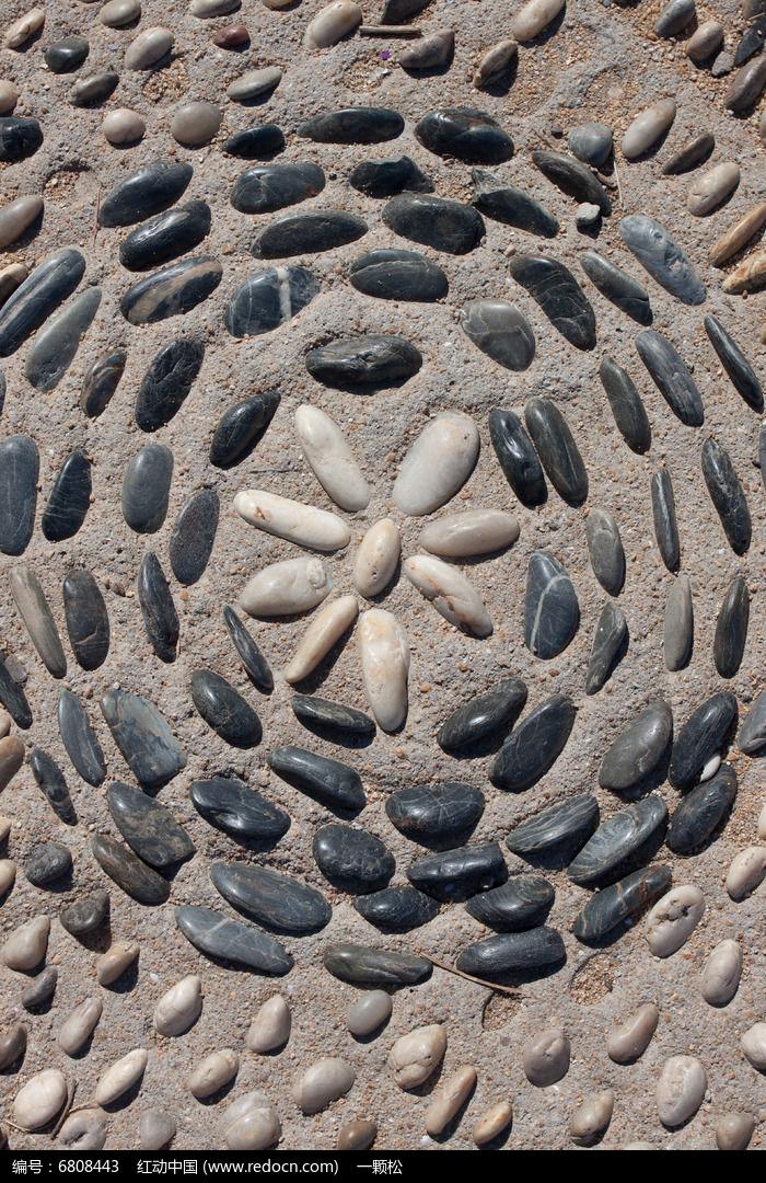 鹅卵石拼图背景
