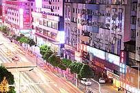富华道绚丽夜景