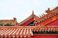 故宫房檐琉璃瓦