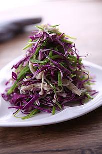 兰豆金针拌紫茄