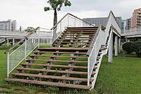 木板观光楼梯