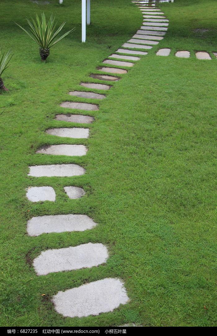 路_弯曲清凉的石板路