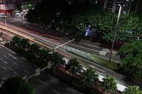 夜色车轨迹