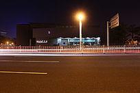 柏油路夜景