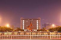 东莞市政府璀璨夜色