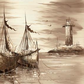 复古风景油画