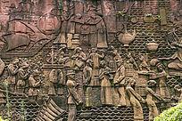 古代商业贸易人物浮雕
