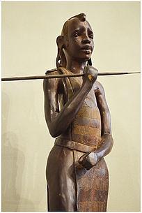 坦桑尼亚交流人物雕塑