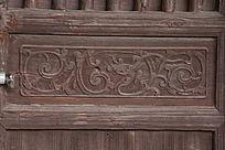 中式雕花木门上的雕花