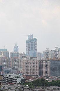 高速发展的城市风景