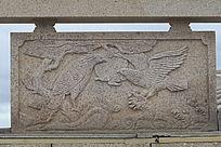老鹰浮雕石刻