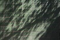 青色瓷砖墙壁