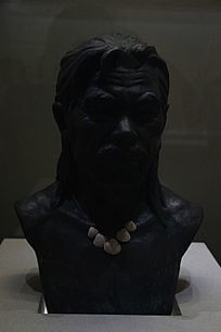 蚝岗遗址博物馆藏珠三角第一人复原头像