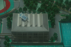 莞工松山湖桥区体育馆模型