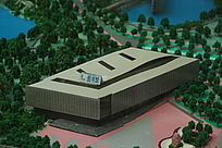 莞工松山湖校区图书馆模型