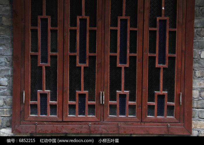 红木窗户图片,高清大图_纹理肌理素材