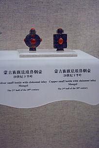 蒙古族嵌珐琅鼻烟壶