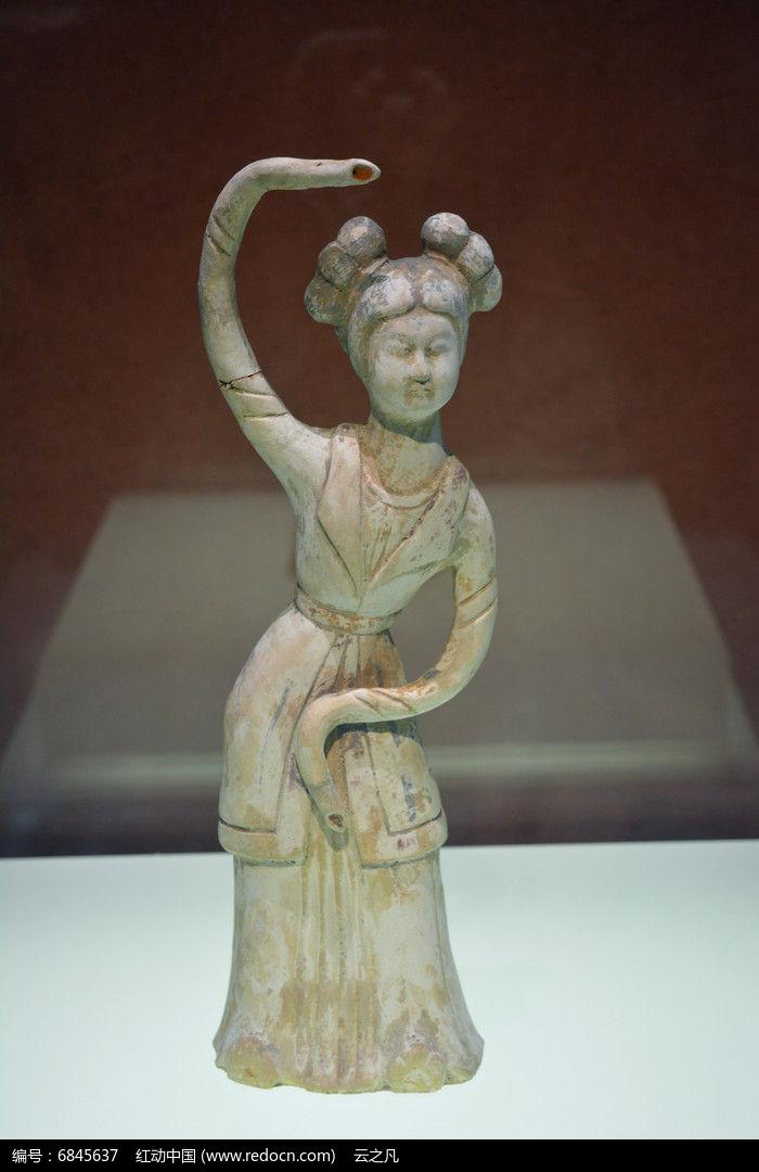 唐代陶舞俑图片,高清大图