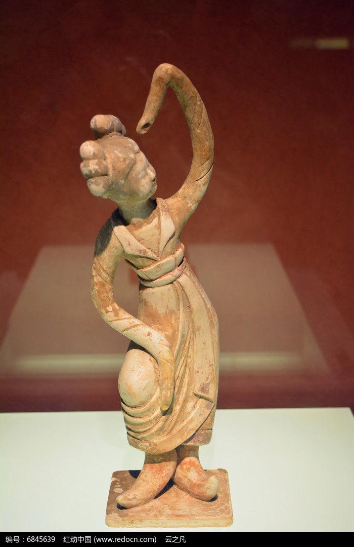 唐代舞蹈陶俑图片,高清大图
