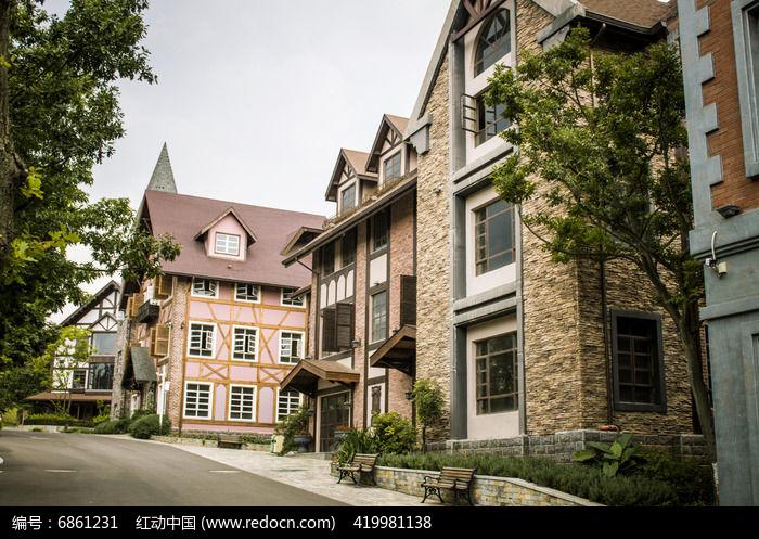 一栋栋欧式别墅图片,高清大图_住宅区素材