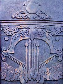 敖包上蒙古族风格雕刻图案