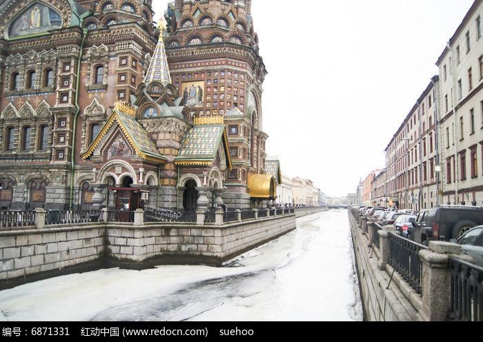俄罗斯圣彼得堡基督复活教堂建筑图片