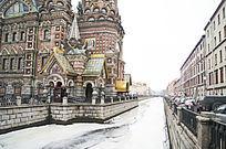 俄罗斯圣彼得堡基督复活教堂建筑