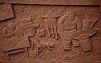 公园墙壁浮雕