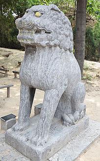 宋陵公园的石狮子