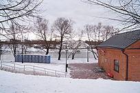 雪景郊外场地