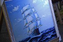 油画一帆风顺