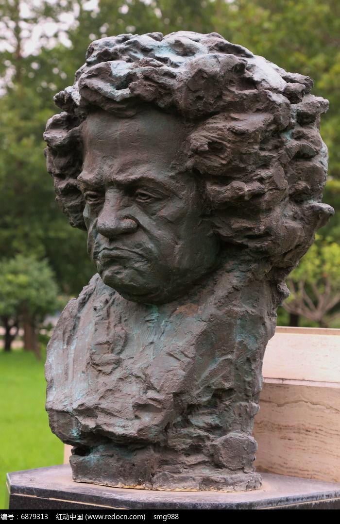 德国音乐家贝多芬铜像图片
