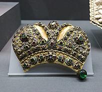 鎏金银圣像皇冠残片