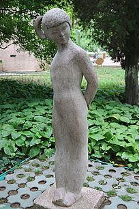 石雕男人女人姻缘
