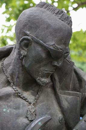 铜雕西部牛仔雕像