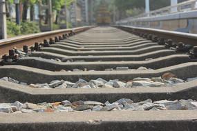 唯美铁路轨道摄影素材