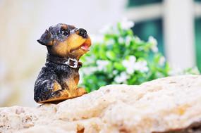 家居小摆件仰望的狗