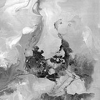 黑白水墨画 流彩 中式 背景墙 壁画 JPG