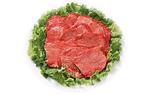 有机肉类展示