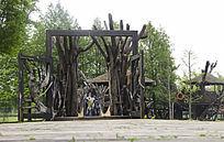 吊桥木屋森林