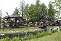 栈桥木房子